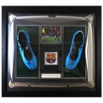 L Messi Boots  in dome and framed
